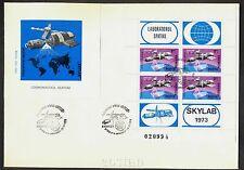 1974 Skylab,Manned Space Laboratory,Romania,Rumänien,Roumanie,Bl.117,FDC