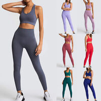 Damen Leggings Trainingshose Sporthose Leggins Slim Fit Basic + Sport Push Up BH