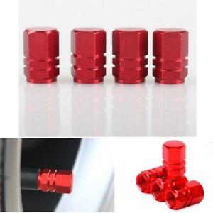 Red Aluminium Alloy Car Tire Valves Decorate Cover 4PCS/SET Auto Accessories