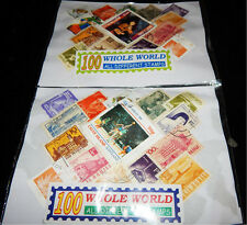 Lot 500 Stamps,5 bundle of 100 Different Used/CTO World wide stamps Collection