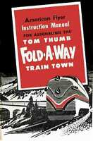 INSTRUCTION MANUAL American Flyer Tom Thumb Fold Away Layout - REPRINT