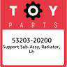 53203-20200 Toyota Support sub-assy, radiator, lh 5320320200, New Genuine OEM Pa