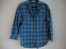 """Krazy Kat"" Blue Checked shirt. Medium"
