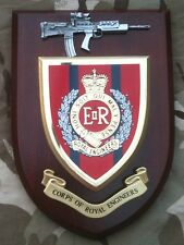 Royal Corps of Engineers Wall Plaque + Pewter SA80