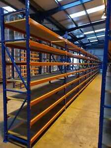 LONGSPAN HD SHELVING RACKING. Uprights 2.5m x 400/500/600mm. Beams 1.5m & 2.5m