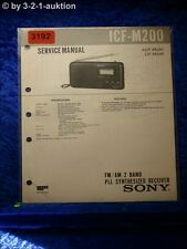 Sony Service Manual ICF M200 PLL Synthesized Receiver (#3192)