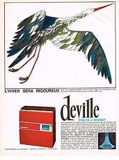 PUBLICITE ADVERTISING 0314   1965   DEVILLE   poele à mazout 2