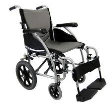 Karman S-115 Ultra Light Transport Chair Wheelchair, 18'x17' Silver