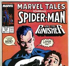 MARVEL TALES #218 Spider-Man & the PUNISHER from Dec. 1988 in F/VF condition