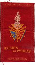 1910 Knights of Pythias Egyptienne Tobacco Silks Cigarettes