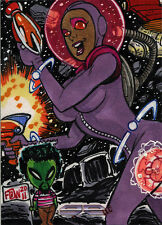 5finity Galaxgals Eradication Frankie B Washington Rare Artist Sketch Card Ver 1