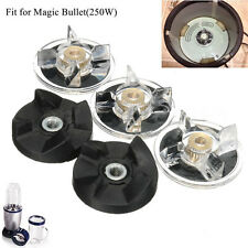 3 Plastic Gear Base & 2 Rubber Replacement For Magic Bullet Spare Parts. uk