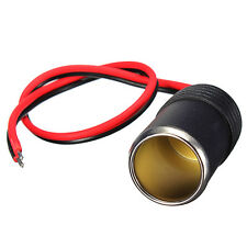 12/24V DC Female Car Cigar Cigarette Lighter Socket Plug Connector Adapter Cable
