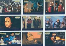 Star Trek TNG Profiles Complete First Contacts Chase Card Set F1-9
