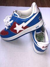 ‼️ Used Bape Bapesta FS-100 Marvel Comics Captain America Men's US 9.5 ‼️