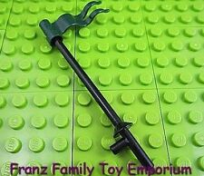 New LEGO Minifig Weapon Black LANCE w/Dark Green FLAG/Banner Castle Pirate Parts
