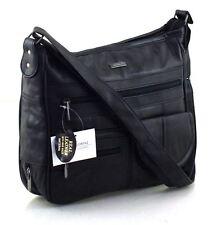 Ladies Lorenz Real Leather Travel Satchel Organiser Across body Shoulder Handbag