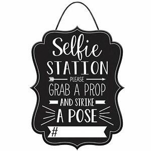 Graduation Photo Booth Party Customizable Hashtag Selfie Sign Prop