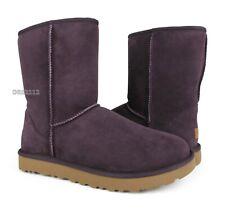 UGG Classic Short II Port Suede Fur Boots Womens Size 8 *NIB*
