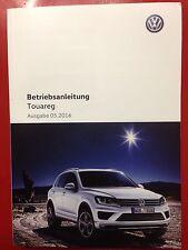 VW TOUAREG 2  2016  Betriebsanleitung 2016 Bedienungsanleitung Bordbuch Touareg