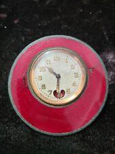 Pendulette de voyage ancienne Lancel Métal Doré Émaillée Ref F62