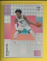 De'Aaron Fox RC 2017-18 Panini Status Rookie Card #148 Sacramento Kings Kentucky