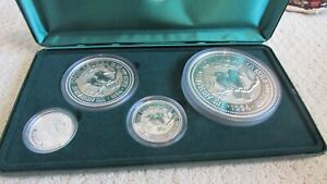 ***  PERTH MINT 1994 KOOKABURRA SILVER SET 45 OZ SET  ***