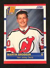 1990-91 SCORE AMERICAN HOCKEY MARTIN BRODEUR ROOKIE CARD #439 DEVILS NMT/MT-MINT