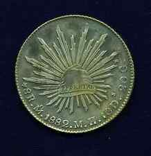 MEXICO - MEXICO CITY MINT 1882-MoMH 8 REALES SILVER COIN, UNCIRCULATED