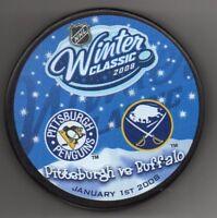 2008 Winter Classic Pittsburgh Penguins vs Buffalo Sabres NHL Hockey Puck + Cube