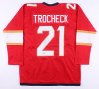 Vincent Trocheck Signed Florida Panthers Hockey Jersey (Beckett COA) Autographed