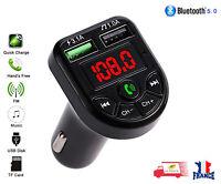 Transmetteur FM Bluetooth 5.0 Adaptateur MP3 Kit voiture Chargeur USB 3.1A TF/U