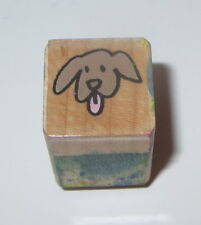 Puppy Dog Rubber Stamp Pets Hero Arts Wood Mounted Mini