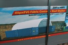 Covermore 15 Oz Pvc 20x40 Conex Shipping Container Mounted Canopy Shelter