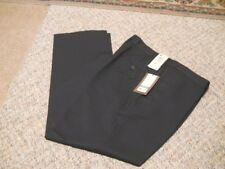 HAGGAR TWO TONE NAVY HERRINGBONE DRESS PANTS FLAT FRONT SZ 36 X 30 MSRP $70-NWT