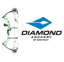 Bowtech Diamond Archery Prism Left Hand Compound Bow 5-55# RTH - GREEN