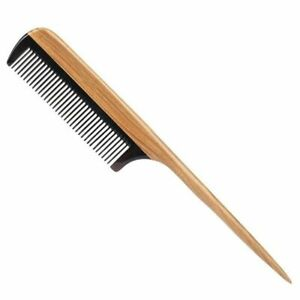 Hair Combs Natural Fine Tooth Wooden No Static Purple Heart Black Horn Teeth