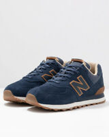 New Balance 574 Scarpe Sportive Sneakers Uomo Blu Pelle scamosciata