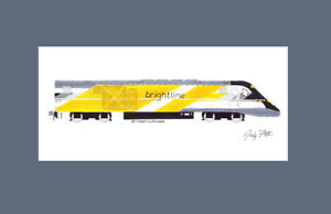 "Brightline Charger 11""x17"" Matted Print Andy Fletcher signed"