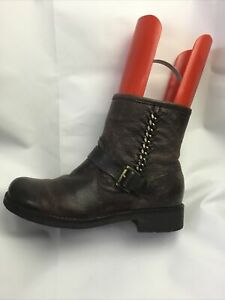 Geox Ladies Ankle Boots UK Size 4 EU 37 Brown Leather.