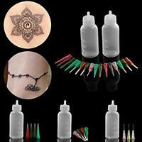 2X Jagua Henna Tattoo-Applikatorflaschen 16-Spitzen-Nadeln-Körper-Art
