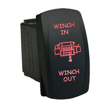 Rocker switch 653RM 12V WINCH IN WINCH OUT Laser Momentary LED red 12V 20A