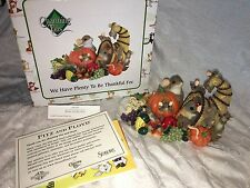 """Charming Tails """"We Have Plenty To Be Thankful For"""" Dean Griff Thanksgiving Nib"""