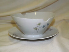 "ROSENTHAL Germany MID CENTURY ""BLUTENSPIEL"" #3722 GRAVY BOAT Attached Underplate"