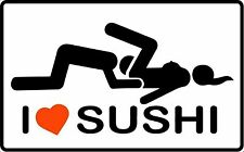 I LOVE SUSHI BUMPER STICKER HELMET STICKER TOOLBOX STICKER