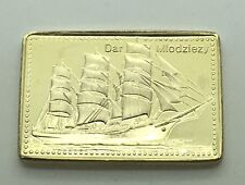 Tall Ships Of The World Dar Mlodziezy Poland Training Ship 1/2 Oz Silver