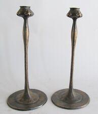 "Pair of 14"" Antique Art Nouveau Candlesticks  c. 1920  Robert Riddle Jarvie"