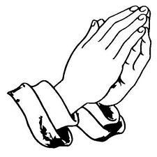 Praying Hands Decal - Window sticker Car RV  Spiritual Fun Outdoor Vinyl Decal
