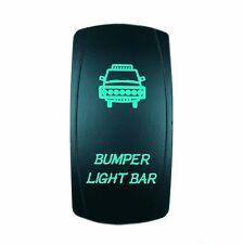 Laser Waterproof Rocker Switch On/Off Button GREEN LED BUMPER Backlit