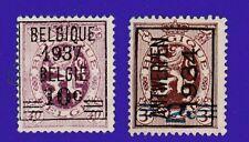 Belgium 1934-37 Lion - 2 Ov & precancel stamps.